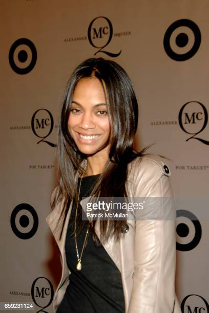 Zoe Saldana attends McQ Alexander McQueen for Target Debuts TARGET McQ MARKET in NYC at St John's Center on February 13 2009 in New York City