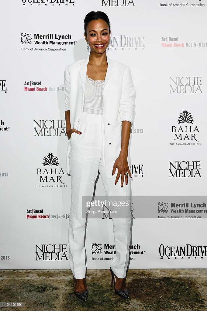 <a gi-track='captionPersonalityLinkClicked' href=/galleries/search?phrase=Zoe+Saldana&family=editorial&specificpeople=542691 ng-click='$event.stopPropagation()'>Zoe Saldana</a> attends Niche Media Party Hosted By <a gi-track='captionPersonalityLinkClicked' href=/galleries/search?phrase=Zoe+Saldana&family=editorial&specificpeople=542691 ng-click='$event.stopPropagation()'>Zoe Saldana</a> on December 6, 2013 in Miami Beach, Florida.