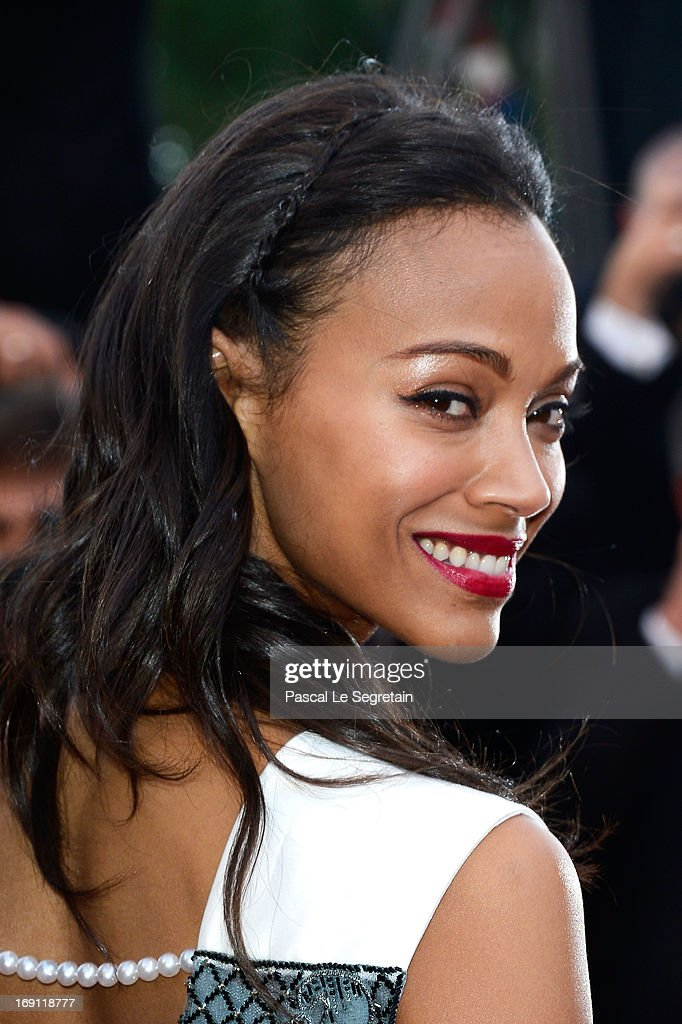 Zoe Saldana attends the 'Blood Ties' Premiere during the 66th Annual Cannes Film Festival at the Palais des Festivals on May 20, 2013 in Cannes, France.