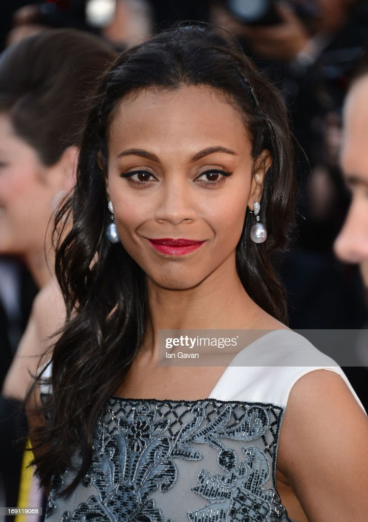 <a gi-track='captionPersonalityLinkClicked' href=/galleries/search?phrase=Zoe+Saldana&family=editorial&specificpeople=542691 ng-click='$event.stopPropagation()'>Zoe Saldana</a> attends the 'Blood Ties' Premiere during the 66th Annual Cannes Film Festival at Grand Theatre Lumiere on May 20, 2013 in Cannes, France.