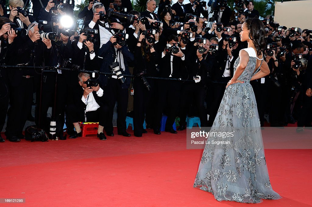 Zoe Saldana attends the 'Blood Ties' Premiere during the 66th Annual Cannes Film Festival at Grand Theatre Lumiere on May 20, 2013 in Cannes, France.