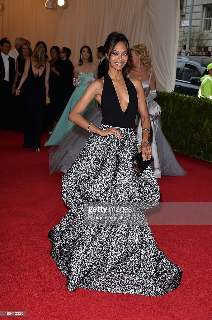 Zoe Saldana attends the 'Charles James: Beyond Fashion' Costume Institute Gala at the Metropolitan Museum of Art on May 5, 2014 in New York City.