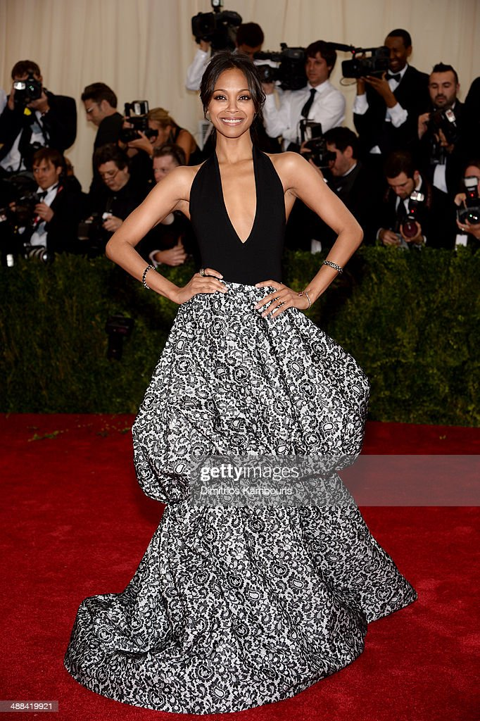 Zoe Saldana attends the 'Charles James Beyond Fashion' Costume Institute Gala at the Metropolitan Museum of Art on May 5 2014 in New York City