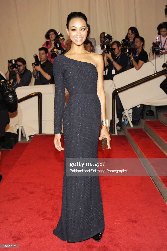 <a gi-track='captionPersonalityLinkClicked' href=/galleries/search?phrase=Zoe+Saldana&family=editorial&specificpeople=542691 ng-click='$event.stopPropagation()'>Zoe Saldana</a> attends the Costume Institute Gala Benefit to celebrate the opening of the 'American Woman: Fashioning a National Identity' exhibition at The Metropolitan Museum of Art on May 8, 2010 in New York City.