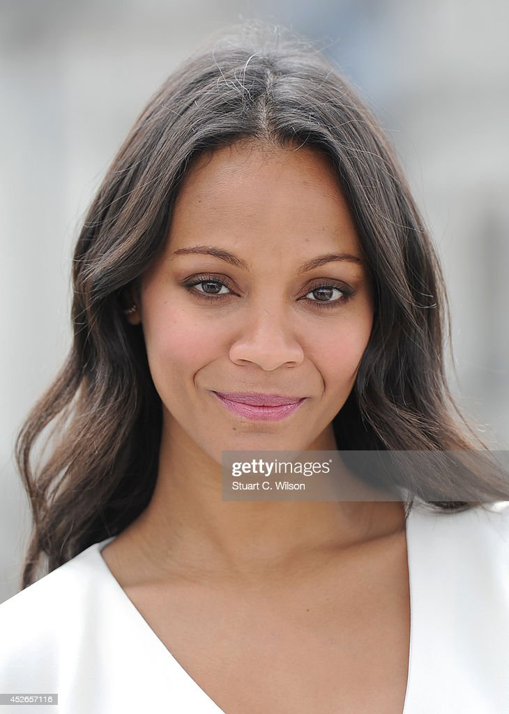 Zoe Saldana attends the 'Guardians of the Galacy' photocall on July 25 2014 in London England