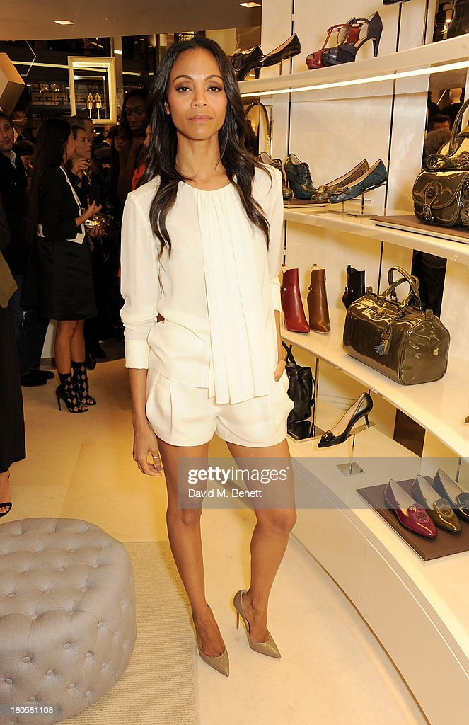 <a gi-track='captionPersonalityLinkClicked' href=/galleries/search?phrase=Zoe+Saldana&family=editorial&specificpeople=542691 ng-click='$event.stopPropagation()'>Zoe Saldana</a> attends the launch of the Longchamp London flagship store on September 14, 2013 in London, England.