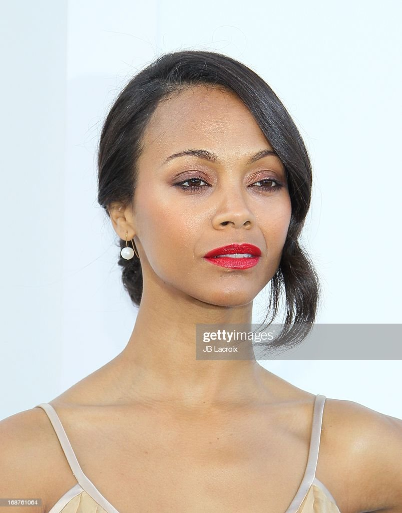 Zoe Saldana attends the Los Angeles premiere of 'Star Trek: Into Darkness' held at Dolby Theatre on May 14, 2013 in Hollywood, California.