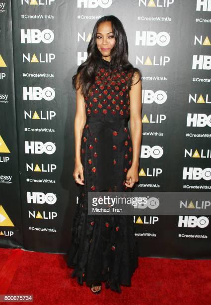 Zoe Saldana attends the NALIP 2017 Latino Media Awards held at The Ray Dolby Ballroom at Hollywood Highland Center on June 24 2017 in Hollywood...