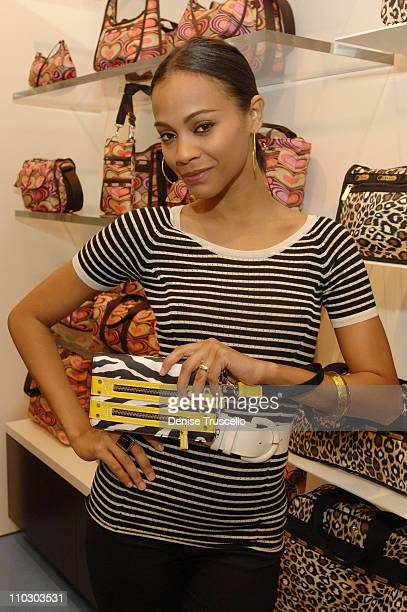 Zoe Saldana during LeSportsac and Zoe Saldana Celebrate New Store Opening at The Fashion Show Mall Las Vegas at LeSportsac At The Fashion Show Mall...