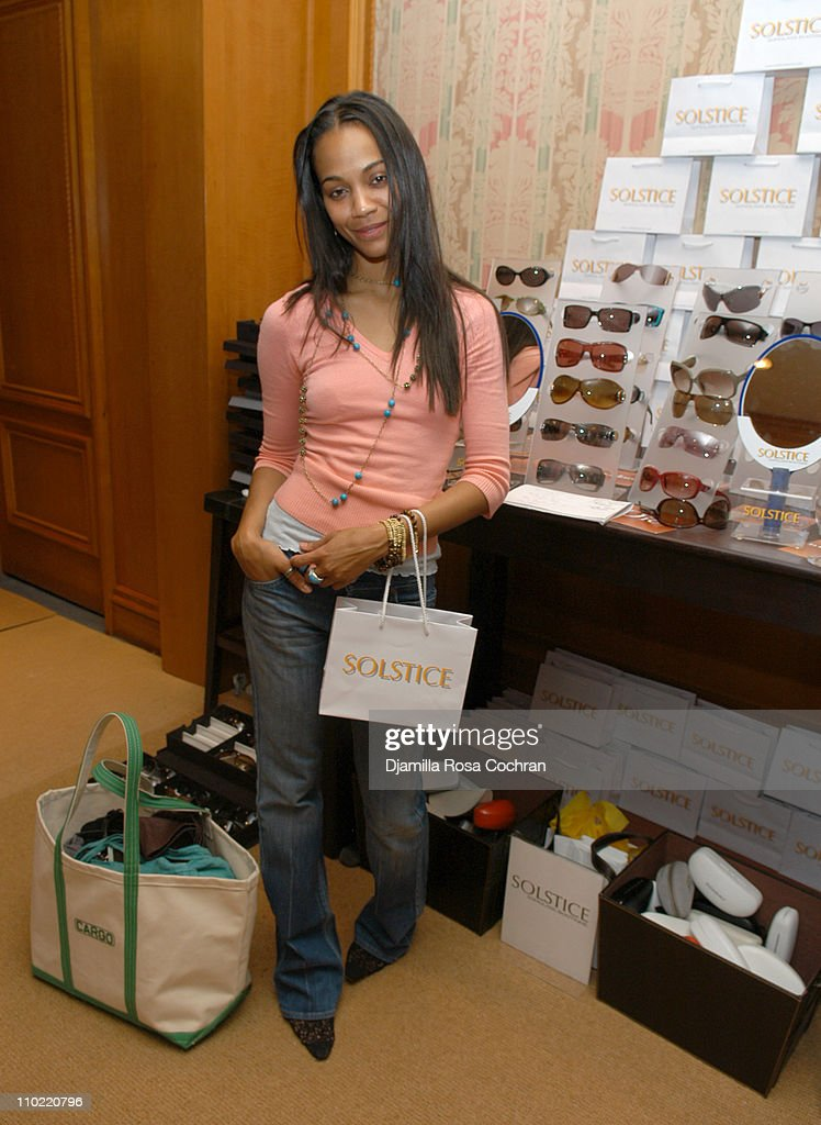 <a gi-track='captionPersonalityLinkClicked' href=/galleries/search?phrase=Zoe+Saldana&family=editorial&specificpeople=542691 ng-click='$event.stopPropagation()'>Zoe Saldana</a> during Solstice Sunglass Boutique at the Lucky/Cargo Club - Day 2 at Ritz Carlton in New York City, New York, United States.