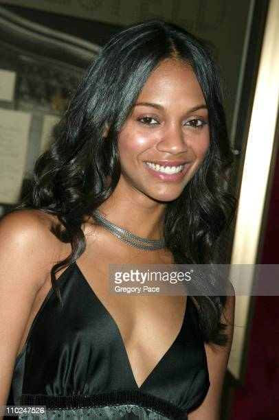 Zoe Saldana during 'The Island' New York City Premiere Inside Arrivals at Ziegfeld Theater in New York City New York United States
