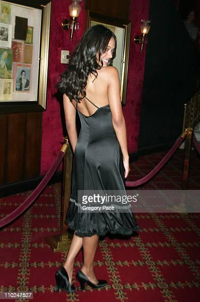 Zoe Saldana during 'The Island' New York City Premiere Inside Arrivals at Ziegfeld Theater in New York City New York United States
