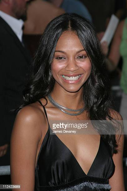 Zoe Saldana during 'The Island' New York City Premiere Outside Arrivals at Ziegfeld Theater in New York City New York United States