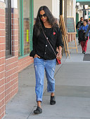 Zoe Saldana is seen on December 23 2015 in Los Angeles California