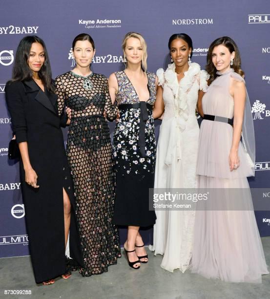 Zoe Saldana Jessica Biel Baby2Baby CoPresident Kelly Sawyer Patricof Kelly Rowland and Baby2Baby CoPresident Norah Weinstein attend The 2017...