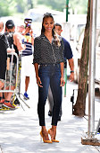 Zoe Saldana leaves ABC's 'The View' on July 18 2016 in New York City