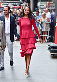 Zoe Saldana visits ABC's 'Good Morning America' in Times Square on July 18 2016 in New York City