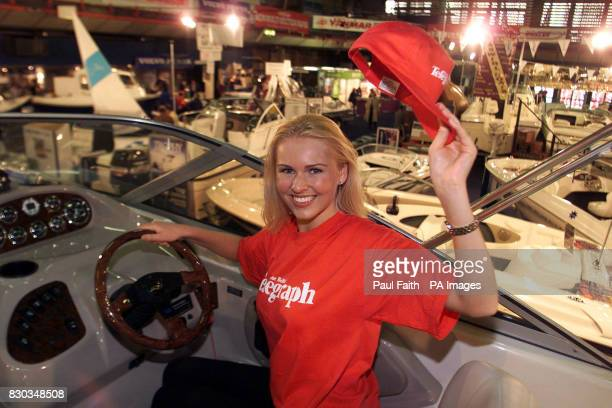 Zoe Salmon aged 20 from Bangor helps launch the Belfast Telegraph boat show at the Kings Hall in Belfast Zoe is on a Regal Commodore supplied by Erne...