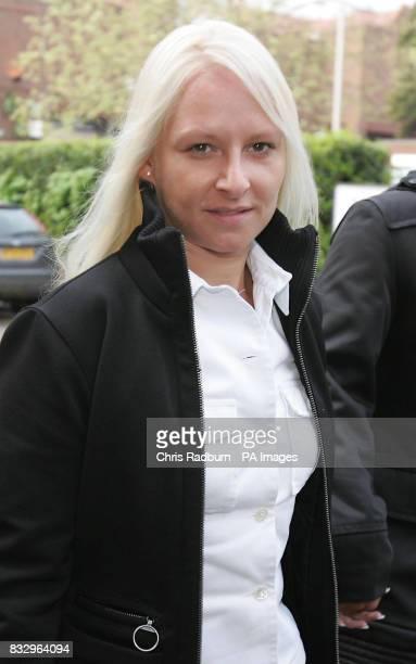 Zoe Sigorney arrives at St Albans Crown Court in St Albans Hertfordshire