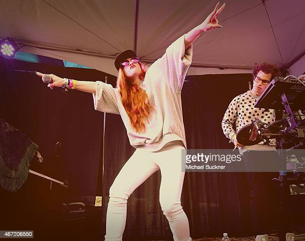 Zoe Silverman of ASTR performs at the Axe/Spin House during the 2015 SXSW Music Fim Interactive Festival at Cheer Up Charlie's on March 21 2015 in...