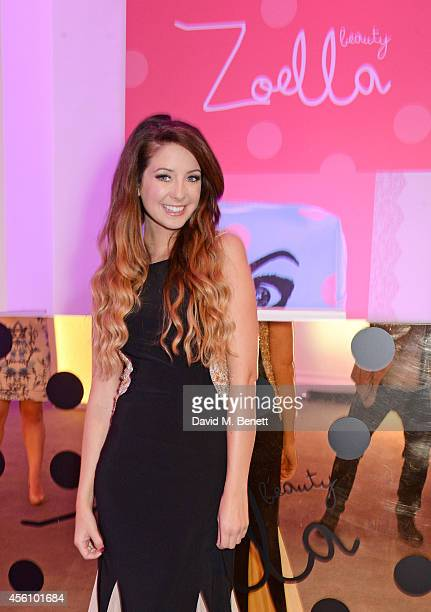 Zoe Sugg aka Zoella attends the launch of her debut beauty collection at 41 Portland Place on September 25 2014 in London England