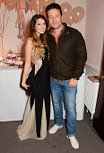 Zoe Sugg and Jamie Oliver attend YouTube phenomenon Zoe Sugg's launch of her debut beauty collection at 41 Portland Place on September 25 2014 in...