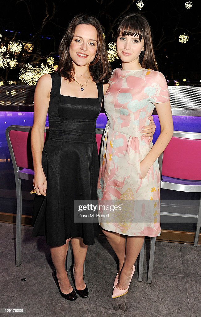 Zoe Tapper (L) and <a gi-track='captionPersonalityLinkClicked' href=/galleries/search?phrase=Felicity+Jones&family=editorial&specificpeople=5128418 ng-click='$event.stopPropagation()'>Felicity Jones</a> attend a Gala Screening of 'Cheerful Weather For The Wedding' at the Empire Leicester Square on January 9, 2013 in London, England.