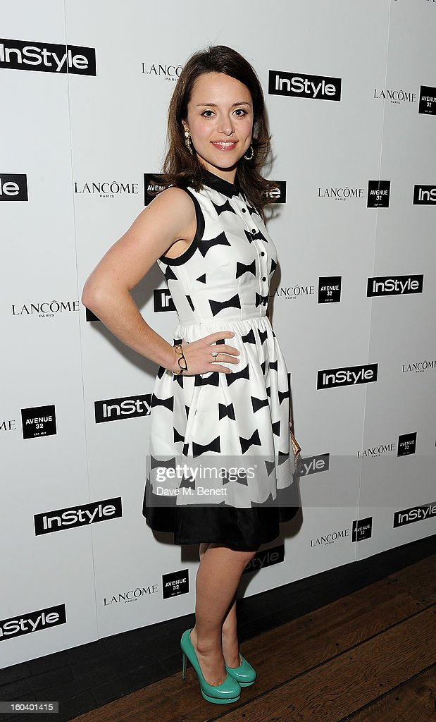 Zoe Tapper arrives at the InStyle Best Of British Talent party in association with Lancome and Avenue 32 at Shoreditch House on January 30, 2013 in London, England.