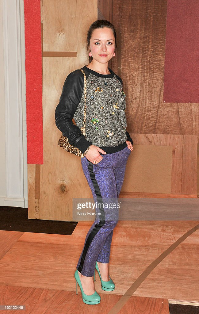 Zoe Tapper attends the Roksanda Ilincic show during London Fashion Week Fall/Winter 2013/14 at on February 19, 2013 in London, England.