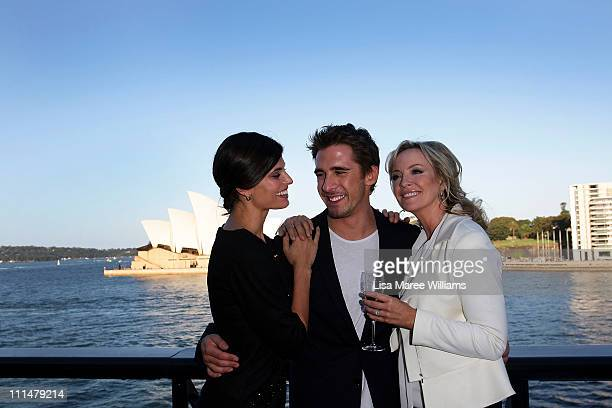 Zoe Ventura Hugh Sheridan and Rebecca Gibney attend the 53rd TV Week Logie Awards nominations announcement at the Overseas Passenger Terminal on...