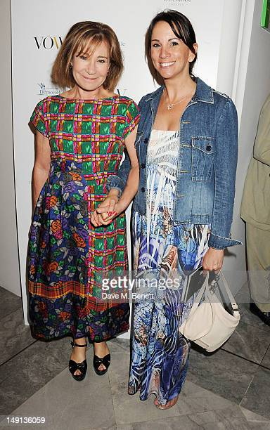 Zoe Wanamaker and Andrea McLean attend a champagne reception introducing the Voice of a Woman Awards featuring a private viewing of the Cultural...