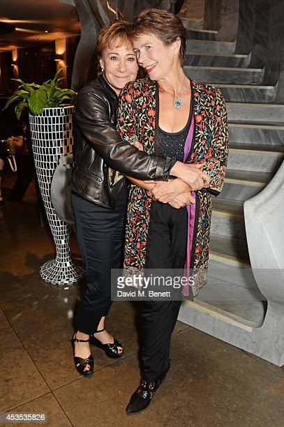Zoe Wanamaker and Celia Imrie attend an after party celebrating the press night performance of 'Celia Imrie Laughing Matters' at the St James Theatre...