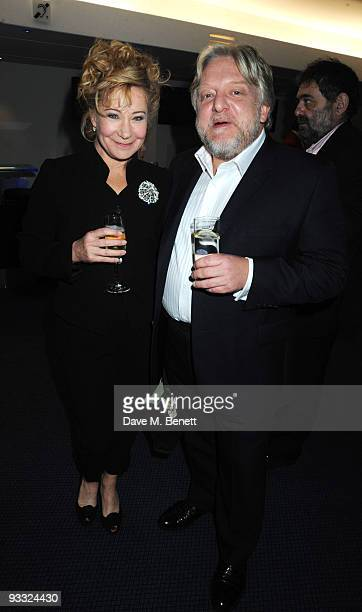Zoe Wanamaker and Simon Russell Beale attend the reception ahead of the London Evening Standard Theatre Awards at the Royal Opera House on November...