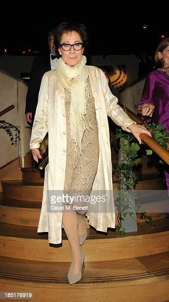 Zoe Wanamaker arrives at the Shakespeare's Globe Gala Dinner hosted by Zoe Wanamaker on October 17 2013 in London England