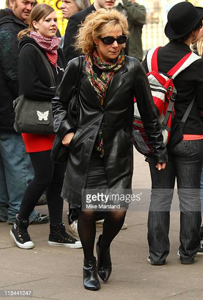 Zoe Wanamaker attends the memorial service for Paul Scofield at Westminster Abbey on March 19 2009 in London England