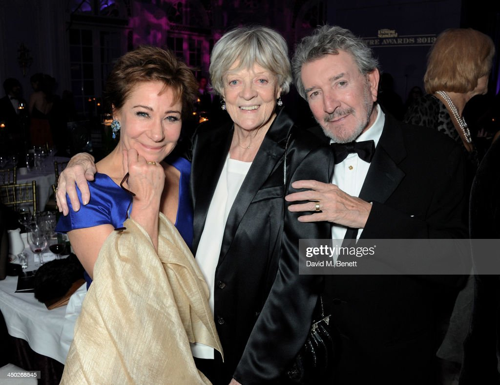 <a gi-track='captionPersonalityLinkClicked' href=/galleries/search?phrase=Zoe+Wanamaker&family=editorial&specificpeople=224028 ng-click='$event.stopPropagation()'>Zoe Wanamaker</a>, Icon Award winner Dame <a gi-track='captionPersonalityLinkClicked' href=/galleries/search?phrase=Maggie+Smith&family=editorial&specificpeople=206821 ng-click='$event.stopPropagation()'>Maggie Smith</a> and Gawn Grainger attend an after party following the 59th London Evening Standard Theatre Awards at The Savoy Hotel on November 17, 2013 in London, England.