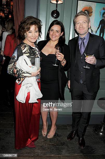 Zoe Wanamaker Lindsay Brunnock and Kenneth Branagh attend The Weinstein Company Dinner Hosted By Grey Goose in celebration of BAFTA at Dean Street...