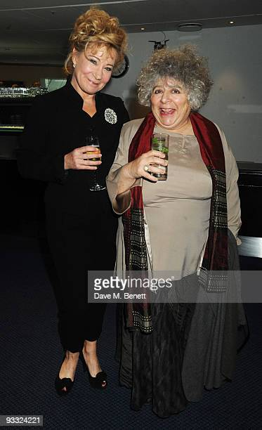 Zoe Wannamaker and Miriam Margoyles attend the reception ahead of the London Evening Standard Theatre Awards at the Royal Opera House on November 23...
