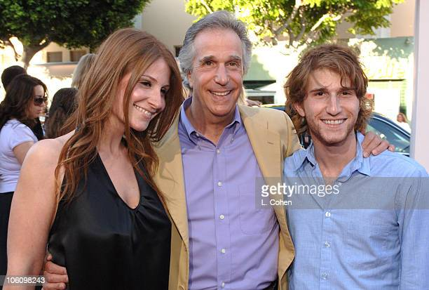 Zoe Winkler Henry Winkler and Max Winkler during 'Click' Los Angeles Premiere Red Carpet at Mann Village Theatre in Westwood California United States