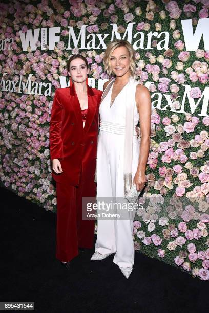 Zoey Deutch and Nicola Maramotti attend the Max Mara Celebrates Zoey Deutch As The 2017 Women In Film Max Mara Face Of The Future Award Recipient...