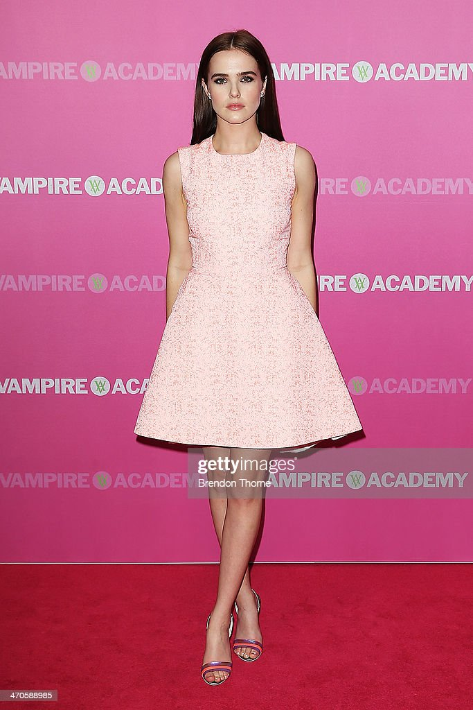 Zoey Deutch arrives at the 'Vampire Academy' premiere at Event Cinemas George Street on February 20, 2014 in Sydney, Australia.