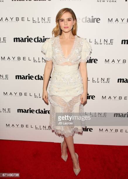 Zoey Deutch attends Marie Claire's 'Fresh Faces' celebration with an event sponsored by Maybelline at Doheny Room on April 21 2017 in West Hollywood...