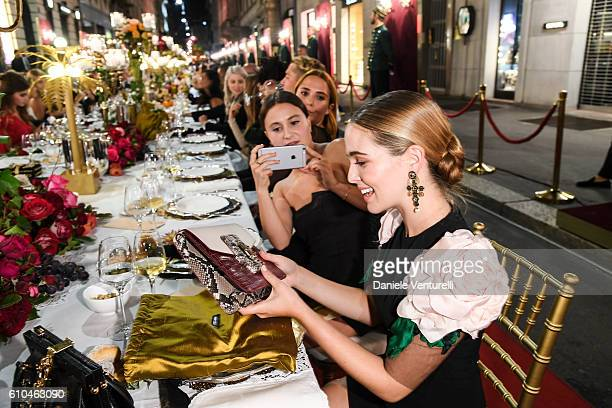 Zoey Deutch attends the DolceGabbana Boutique Opening Event during Milan Fashion Week Spring/Summer 2017 on September 25 2016 in Milan Italy