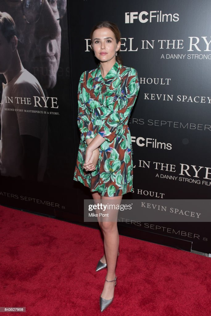 Zoey Deutch attends the 'Rebel in the Rye' New York Premiere at Metrograph on September 6, 2017 in New York City.