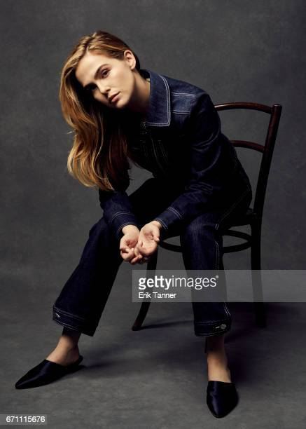 Zoey Deutch from 'Flower' poses at the 2017 Tribeca Film Festival portrait studio on April 20 2017 in New York City