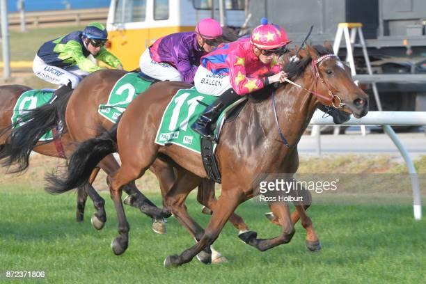 Zoey Lass ridden by Ben Allen wins the Obrien Real Estate FM Maiden Plate at Cranbourne Racecourse on November 10 2017 in Cranbourne Australia