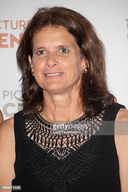 Zola Budd arrives for the premiere of Sky Atlantic original documentary feature 'The Fall' at Picturehouse Central on July 27 2016 in London England