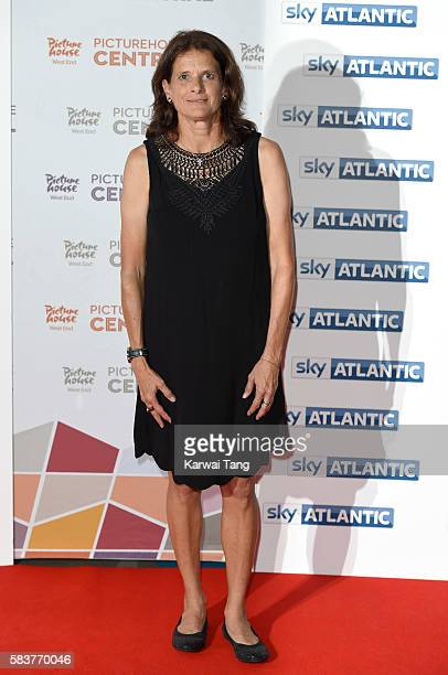 Zola Budd arrives for the premiere of Sky Atlantic's original documentary feature 'The Fall' at Picturehouse Central on July 27 2016 in London England