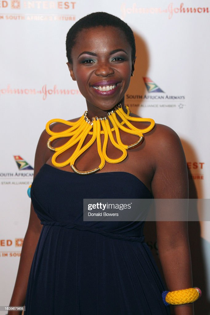 Zolani Mahola of Freshlyground attends the Shared Interest 19th Annual Awards Gala on March 18, 2013 in New York City.