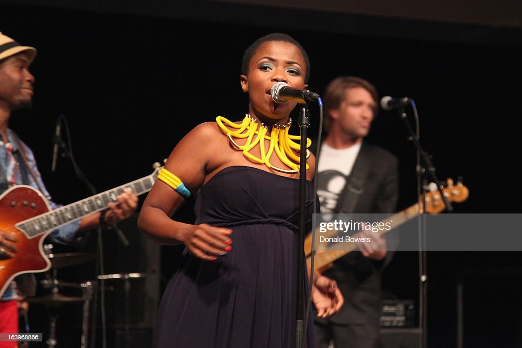 Zolani Mahola of Freshlyground performs onstage at the Shared Interest 19th Annual Awards Gala on March 18, 2013 in New York City.